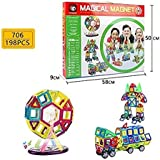 Powerpak Xinbida Magical Magnet-198pcs Magnetic Building Blocks 3D Puzzle Learning Toy For Kids (No.706)