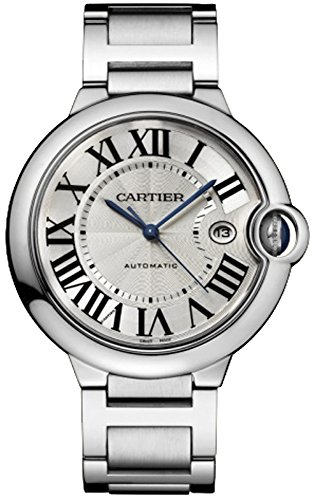 CARTIER MEN'S 42MM STEEL BRACELET & CASE S. SAPPHIRE AUTOMATIC WATCH W69012Z4