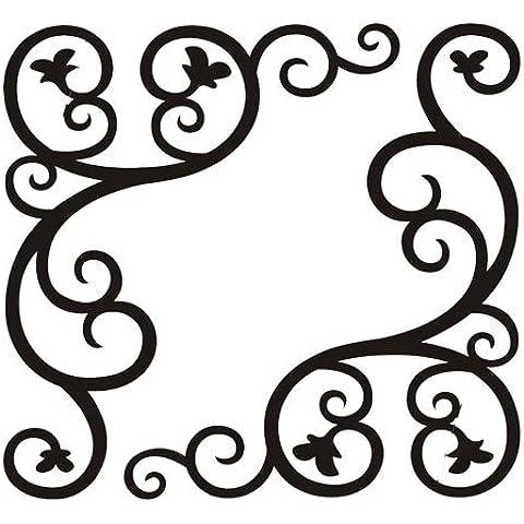 Personalizadas esquinas de vidrio decorativo negro estéticas tres ensamblaje