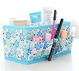 Oxforder Vlies Floral Cosmetic faltbare Aufbewahrungsbox/Desktop Schmutz Box 52g