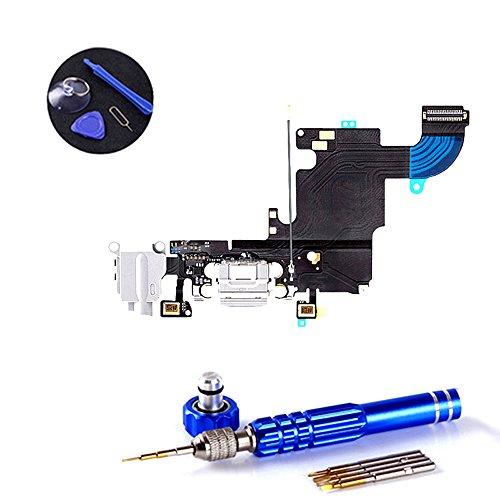 PPdigi Dock Connector für iPhone 6s USB Ladebuchse Audio buchse Mikrofon mit Werkzeugset (Passen iPhone 6s, Gold/Silber/Roségold)