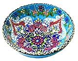 Turkish Ceramics Hand Painted Ceramic Bowl-6 Inch Blue