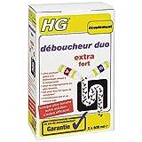 HG déboucheur duo 2x 500 ml - Déboucheur de canalisation pour éliminer les bouchons les plus tenaces dans la cuisine ou la salle de bain. Lorsque plus aucune autre solution ne s'avère efficace!