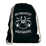 Shirtdepartment Oktoberfest Saufgruppe - Dirndl - Turnbeutel - von SHIRT DEPARTMENT, schwarz-weiss