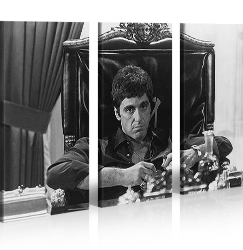 islandburner Bild Bilder auf Leinwand Al Pacino Scarface XXL Poster Leinwandbild Wandbild Dekoartikel Wohnzimmer Marke