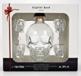 Crystal Head Set Geschenkset - Crystal Head Vodka 70cl (40% Vol) + 4x Shotgläser -[Enthält Sulfite]