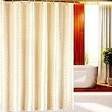 GLJY Waterproof Shower Curtain Mildew Thicken Keep Warm Bathroom Shower Curtain Cloth Toilet Partition Curtain,Beige_240cm(H) x200cm(W)