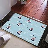 WANG-shunlida Fußmatte, Nordic mediterrane Tür, Fußmatte, Matte, Matte, Bett, Teppich, 60 X 90 Cm J 209-03,
