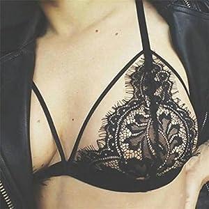 1d0737df1a9905 ... Hansee Frauen Hohl Transluzente Unterwäsche Sheer Lace Strap Dessous BH  Bustier