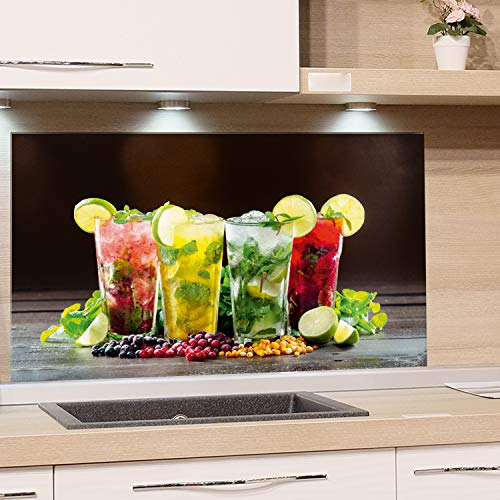 GRAZDesign Küchenrückwand Glas Cocktailbar - Spritzschutz Küche Glas Bar - Glasrückwand Küche Cocktail / 60x40cm