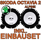Skoda Octavia 2 -Lautsprecher Heck - Alpine SXE 1750S Komposystem