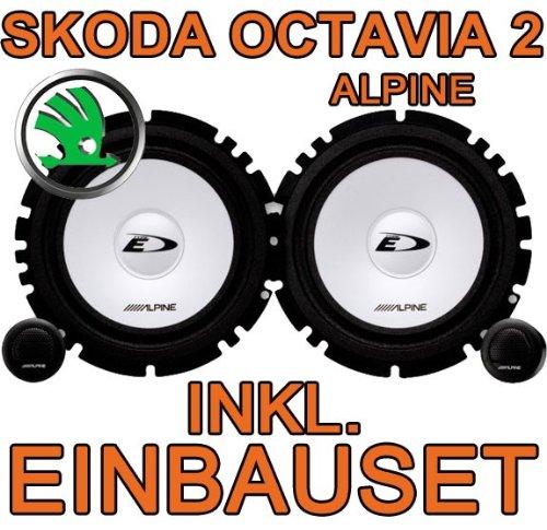 just-SOUND Alpine SXE-1750S - Altavoz trasero, sistema de componentes, ideal para Skoda Octavia 2