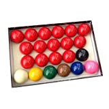 Trade Full Size Snooker Ball Set (2 1/40,6 cm) mit 6 grün Triangle Kreide