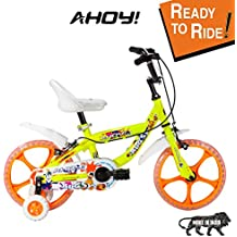 AHOY! Fitted & Ready to Ride Bicycle 14-inch Bugsy for Girls (3 to 5 Years) - Neon Yellow