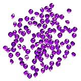 Cdet 1000X Piedras de decoración de diamante acrílico transparente tipo dorso plano pedrería acrílico cristal gemas pedrería,Púrpura