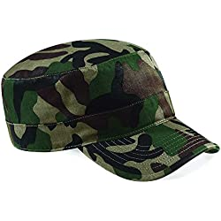 Beechfield - Gorra unisex con diseño camuflaje militar ejército caza - Selva, Talla única