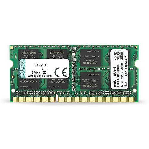 Kingston KVR16S11/8 Arbeitsspeicher 8GB (DDR3 Non-ECC CL11 SODIMM 204-pin 1,5V) - 8 Ddr3-1600-notebook-ram Gb