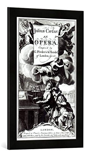 Gerahmtes Bild von English School Cover of Sheet Music for Julius Caesar, an Opera by Handel, published in 1724