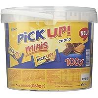 Leibniz PiCK UP! Minis Choco Vorteilsbox 1er Pack — Mini-Butterkekse mit Schokolade — Schoko-Kekse einzeln verpackt — Schokoladenkekse Großpackung (1 x 1.06 kg)