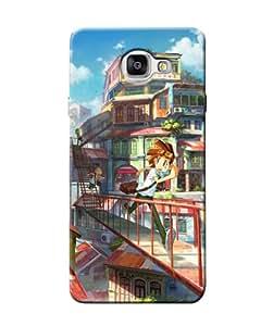 Citydreamz Running Boy/Abstract Hard Polycarbonate Designer Back Case Cover For Samsung Galaxy A7 2016 Edition/Samsung Galaxy A710