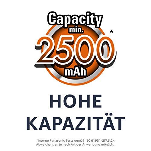Panasonic eneloop pro, Ready-to-Use Ni-MH Akku, AA Mignon, 4er Pack, inkl. Storage Case, min. 2500 mAh, 500 Ladezyklen, extrastarke Leistung & geringe Selbstentladung, wiederaufladbare Akku Batterie