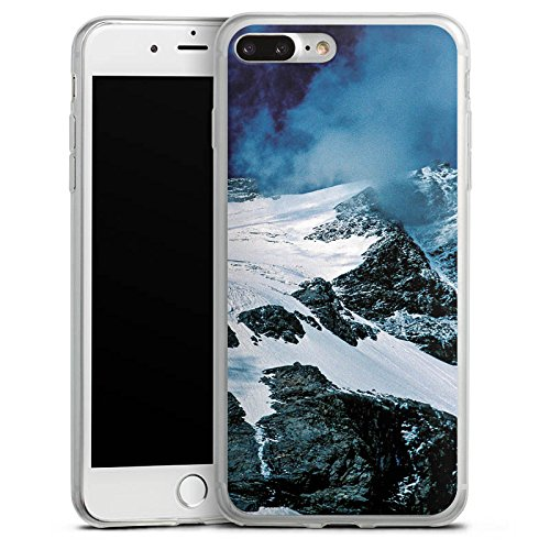 Apple iPhone 8 Plus Slim Case Silikon Hülle Schutzhülle Gebirge Berge Schnee Silikon Slim Case transparent