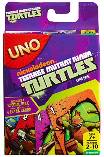 Mattel – UNO – Teenage Mutant Ninja Turtles – Kartenspiel [UK (Ninja Turtle Farben)
