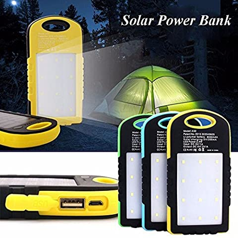 Sunyounger™ Power Brown Color Portable Charger 8000mAh Solar Charger Universal Mobile Power Bank Camping Light Solar Light Flashlight Battery Charger for iphone ,smart phone,camera
