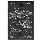 artboxONE Poster 90x60 cm Retro Motorrad patent von Künstler Artkuu
