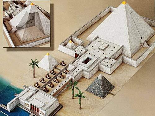 Forum Traiani Ägyptische Pyramide mit Taltempel + gratis Anubis, DIY Bastelbogen für Papiermodelle, Karton-Modellbau, Basteln mit Papier für Jungen und Mädchen