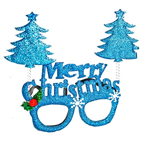 Saffronworld Christmas Eye Glasses Xmas Party Goggles Santa Decoration Party Birthday School Home
