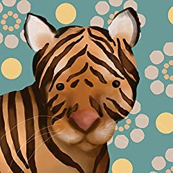 Oopsy Daisy Aaron The Tiger by Meghann O Hara Canvas Wall Art, 10 by 10-Inch