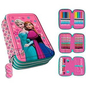 Plumier 3D Frozen Disney Anna Elsa triple