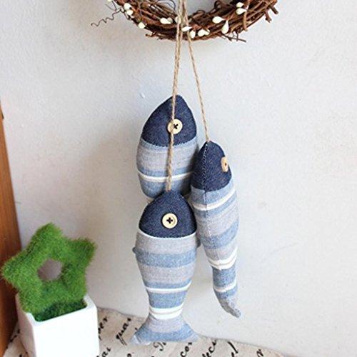 ELECTROPRIME Handmade Mediterranean Fish Nautical Door&Home Decorative Hanging Ornament#3