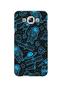 Gobzu Printed Hard Case Back Cover for Samsung Galaxy E7 - Spacey
