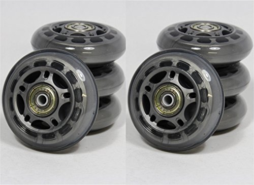 SPEED INLINER ROLLEN 8 Stück 70 mm ABEC 5 Kugellager Inline Skates Transparent 8750+