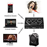 Fifine® External Music Audio Card for Recording, Karaoking, Home party Microphone Mixer for TV/DVD/PC/smartphone(Black)