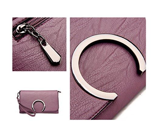 LAIDAYE Handtaschen-Damen-Tasche Kuriertasche Schultertasche Black