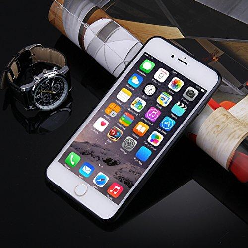 Fall für iPhone 6 Plus u. 6s Plus, künstlerische Carbon-Faser-Beschaffenheit weiche TPU schützende Fall-rückseitige Abdeckung by diebelleu ( Color : Black ) Black