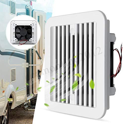 Gankmachine Universal-Low Noise Kunststoff 12V RV Trailer Caravan Side Air Vent Belüftung Lüfter Gebläsekühlung Weiß -
