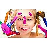 ZHAOZX Colore Carnevale Carnevale Set di Pittura per Il Viso Pennello Bambino Adulto Vernice Colore Pittura ad Olio Art Trucco Trucco Natale