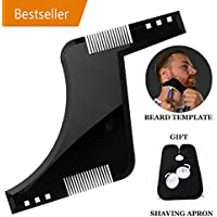 Barba Shaping Tool Template, Ligero Hair Facial Hairline Perfect Symmetric Lines and Trim withTrimmer Hair Clipper con barba Free Care Trimmer Hair Shave Delantal