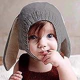 Per Sombreros Gorros Bebés Niños Niñas Gorros Hecho de Punto de Invierno  con Decoración de Orejas d9162af926a