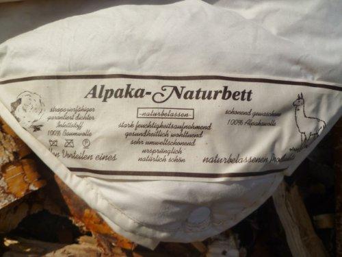 Bettdecke 100% ALPAKA/Lama 135x200cm Sommer Qualitäts-Naturbett