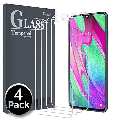 Ferilinso Vetro Temperato per Samsung Galaxy A40,[4 Pack] Pellicola Protettiva Protezione Schermo in Vetro Temperato Screen Protector Film con Garanzia di Sostituzione a Vita