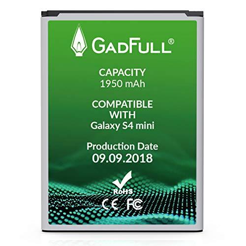 GadFull® Akku für Samsung Galaxy S4 Mini | 2018 Baujahr | Wie B500BE | Galaxy S4 Mini i9190 | Galaxy S4 Mini Dual SIM i9192 | Galaxy S4 Mini LTE i9195 | Batterie Accu Battery Galaxy
