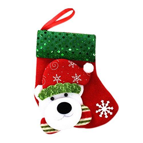 fablcrew Strumpf Weihnachten Hunde Modell Christmas Socken Klein Weihnachten Socken Ornamenten für die Weihnachtsdekoration (Weihnachten Strumpf Hund)