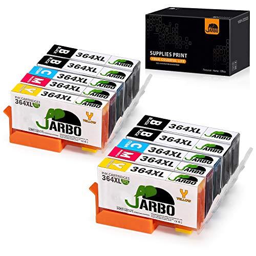 JARBO 4 Colori Compatibile HP 364XL Cartucce d'inchiostro (4 Nero,2 Ciano,2 Magenta,2 Giallo) Compatibile con HP Photosmart 5510 5511 5512 5514 5515 5520 5522 5524 6510 6520 6512 6515 7510 7520 7515 B8550 B8558 C5370 C5373 C5324 C6388 D5460 D5463 B110a B110c B010a B010b B111a B109a B109b C309a C309c B209a B210a HP Deskjet 3070A
