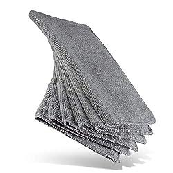 HEYNNA® Mikrofasertücher für die Reinigung in Haushalt und Küche - Reinigungstücher/Putzlappen Set 30x30cm, 6 Stück grau/anthrazit