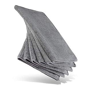 HEYNNA® Mikrofasertücher für die Reinigung in Haushalt und Küche – Reinigungstücher/Putzlappen Set 30x30cm, 6 Stück grau/anthrazit
